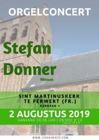 Orgelconcert Stefan Donner