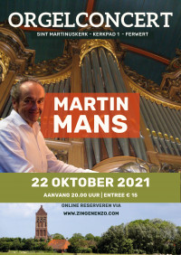 Orgelconcert met Martin Mans