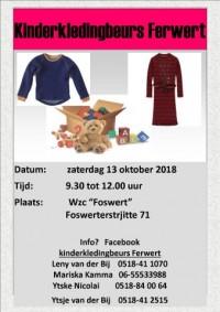 Kinderkleding- en speelgoedbeurs oktober 2018